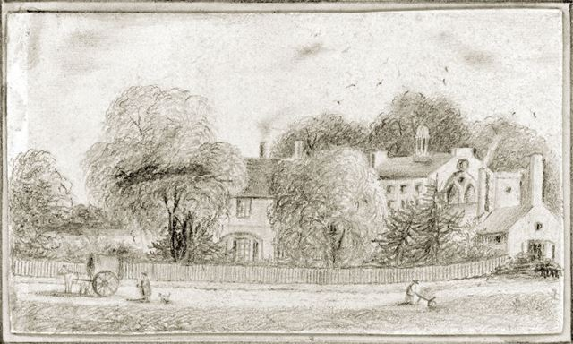 Pencil sketch of Bulwell 1831