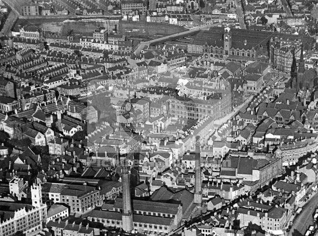 Aerial view of the Burton Street - Wollaton Street - Mansfield Road - Trinity Square area