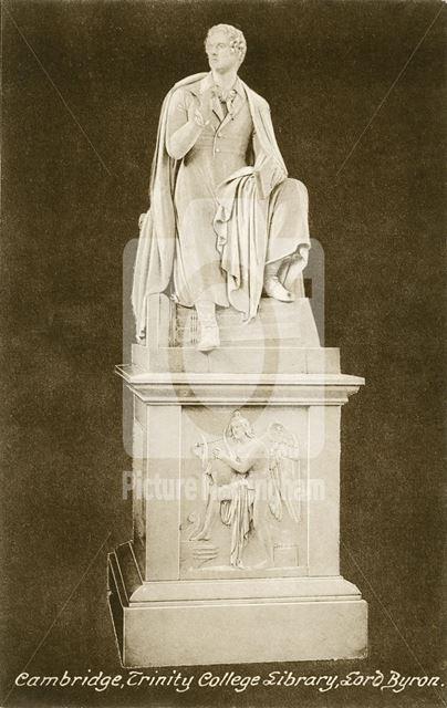 Greeting Card Portrait - Lord Byron statue, Trinity College, Cambridge