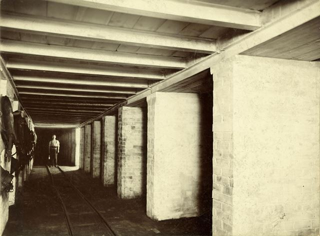 Underground Stables, Clifton Colliery, Nottingham, c 1895
