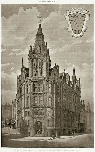 The Prudential Assurance Company Offices, King Street, Nottingham, 1897