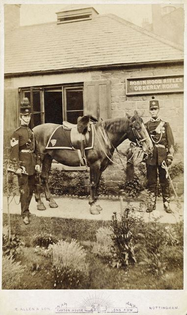 Major J White and Serjeant Butler with 'Maid Marian'
