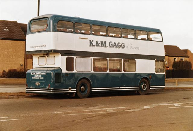 A K and M Gagg's bus on Robin Hood Way