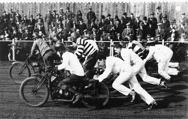 Motor Cycle Racing, White City Speedway Track, Colwick, Nottingham, 1926-7