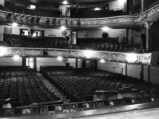 Interior from the stage, Theatre Royal