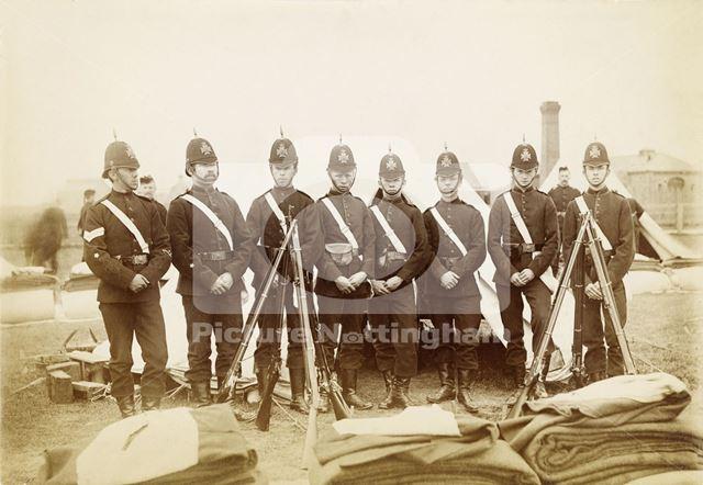 Robin Hood Rifles at camp, Skegness, Lincolnshire, 1884