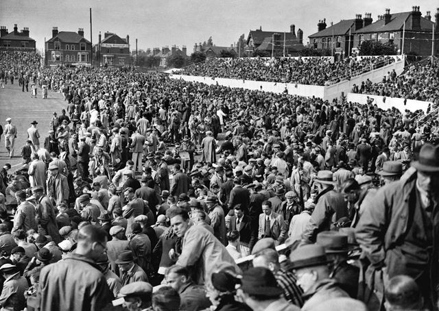 Crowds at Trent Bridge Cricket Ground for the Test match - England v Australia 1938