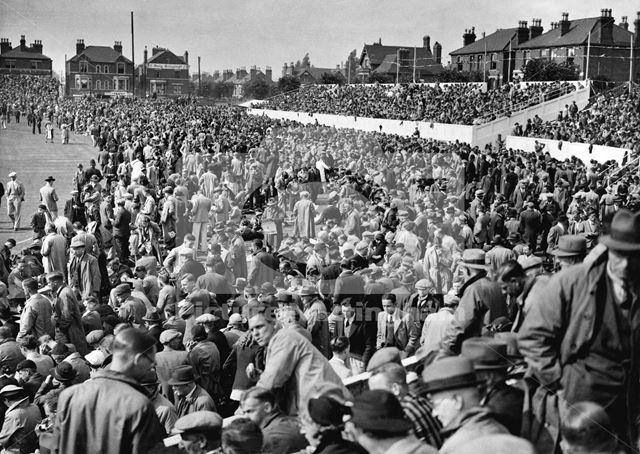 Crowds at Trent Bridge Cricket Ground for the Test match - England v Australia 1938