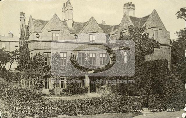 Manor House, Manor Street, Sneinton, Nottingham, c 1900