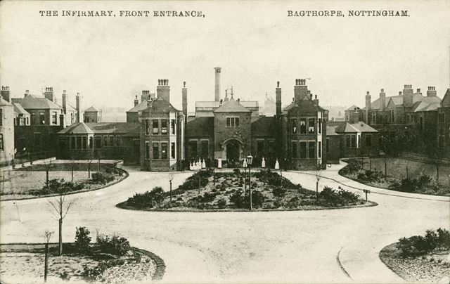 Bagthorpe Infirmary (City Hospital), St. Francis Way, Sherwood, Nottingham, c 1910