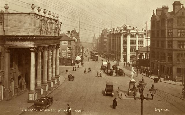 Theatre Square and Upper Parliament Street, Nottingham, c 1925