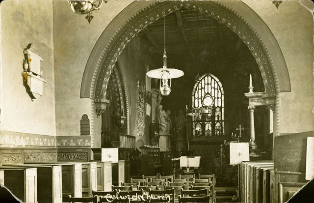 Nave and Chancel, St John the Baptist Church, Colwick, Nottingham, c 1920