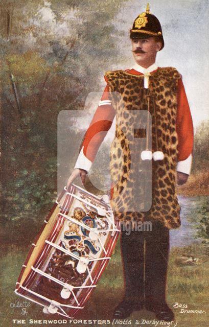 Bass Drummer, Sherwood Foresters (Notts & Derbys Regiment)