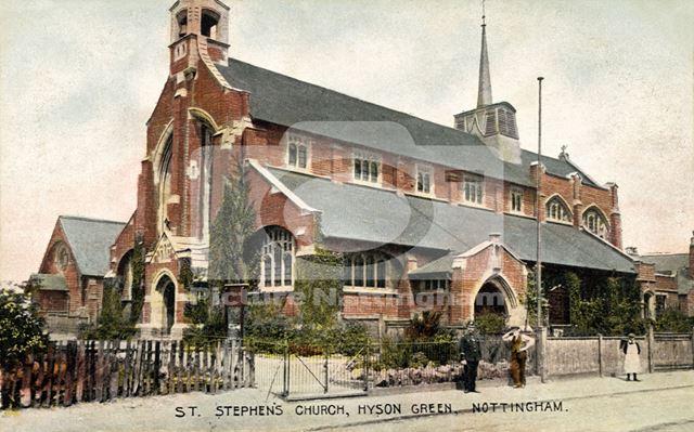 St Stephen's Church, Bobbers Mill Road, Hyson Green, c 1900