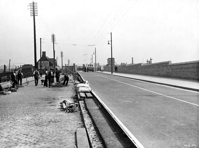 The LMS Railway Bridge during widening - Wollaton Road