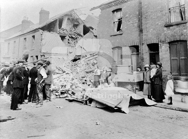 Bomb damage, Newthorpe Street