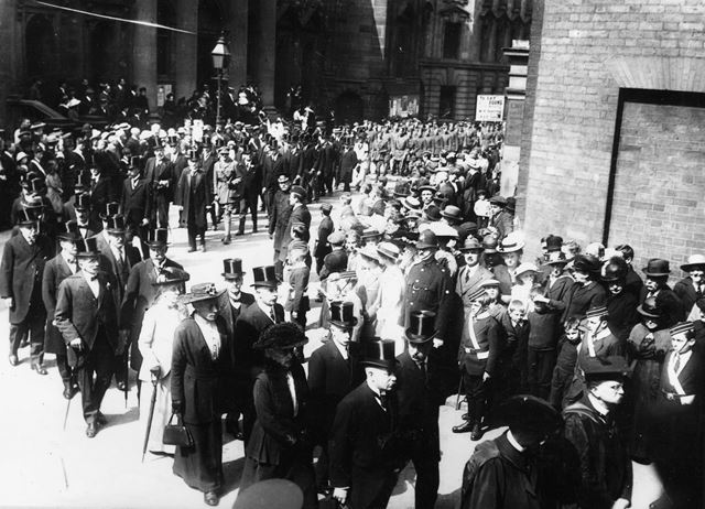 Albert Ball Memorial Service, St Mary's Church, Nottingham, 1917