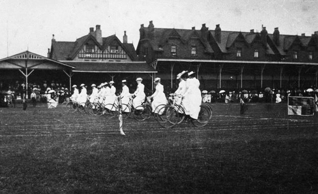 Cyclists, Trent Bridge Cricket Ground, 1903