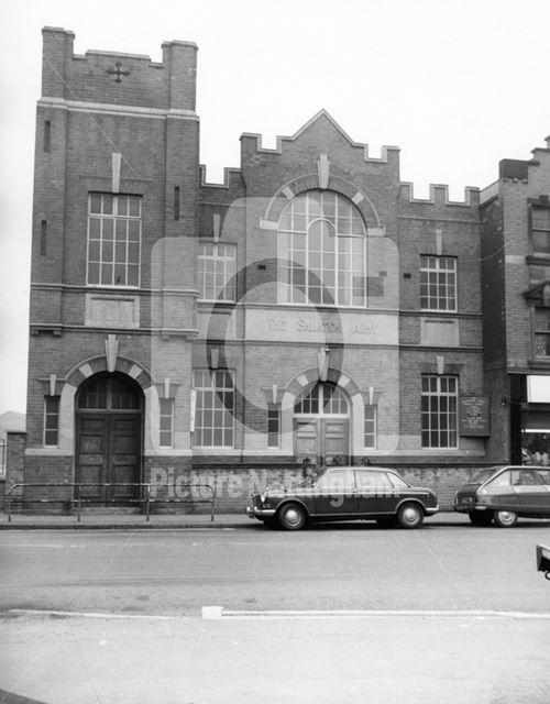 Salvation army hall, Main Street, Bulwell, 1975