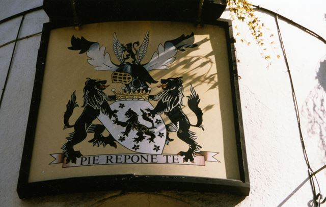Inn sign of the Manvers Arms Public House, Main Road, Radcliffe on Trent, 1998