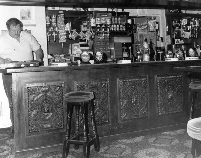 Landlord Peter Skellett in Lounge Bar of the Magna Charta Public House, Southwell Road, Lowdham, 199