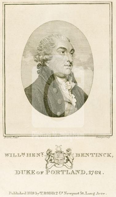 William Henry Bentinck, Duke of Portland, 1762