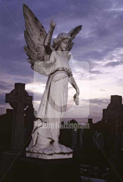 Angel memorial stone in Church (Rock) cemetery