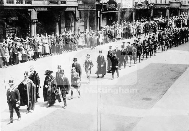 Albert Ball Memorial Service Procession, 1917