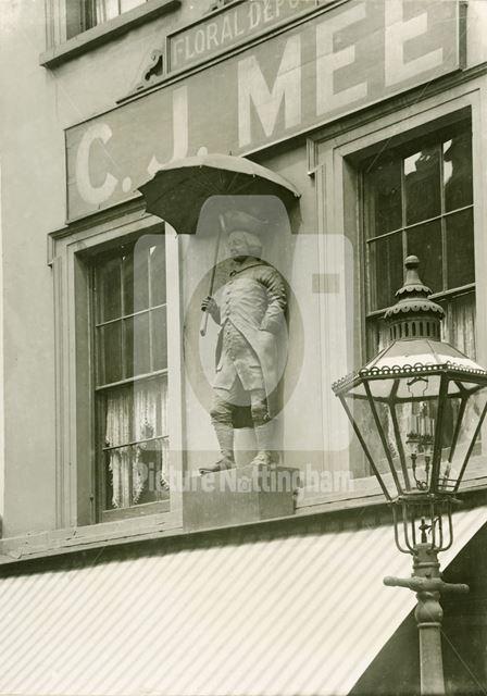 Hanway Statue, 9 Pelham Street, c 1910