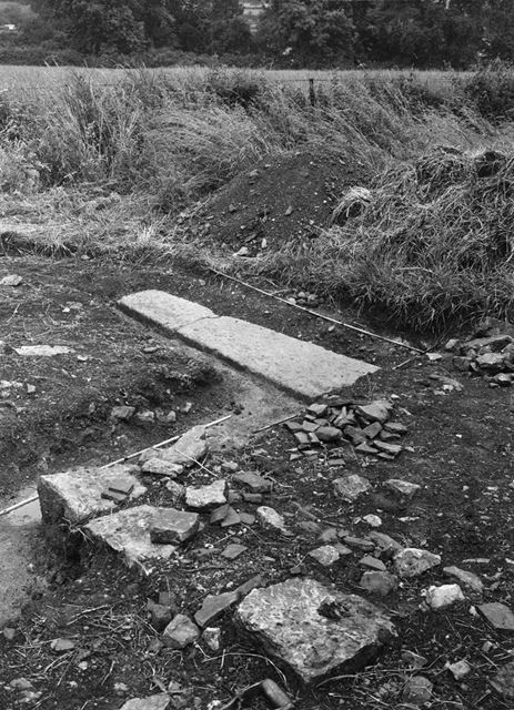 Stone Coffin, Castle Hill Excavations, Thurgarton, 1951