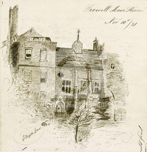 Staple Inn, High Holborn, London, 1881