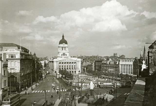 Council House and Old Market Square, c 1950