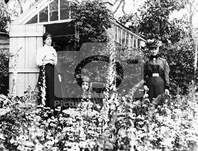 Unknown Women in Garden at 108 Mansfield Street, Sherwood, Nottingham, c 1895