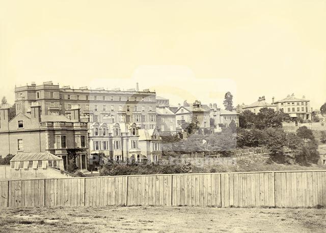 Clinton Terrace, The Park, Nottingham, c 1870