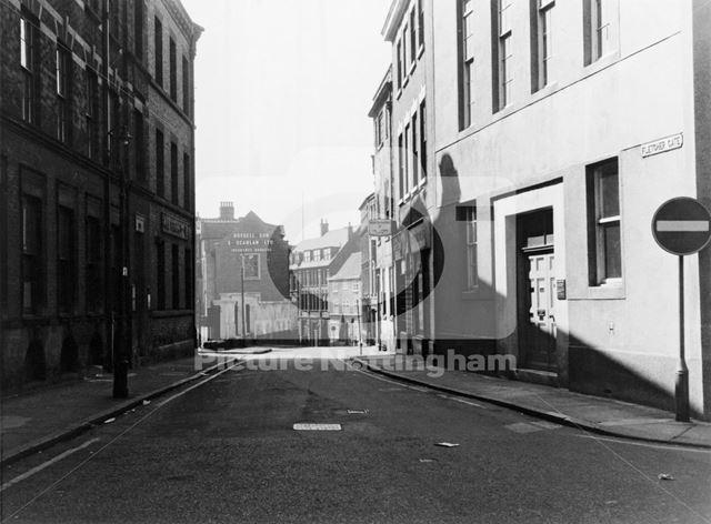 Fletcher Gate, Lace Market, Nottingham, c 1971