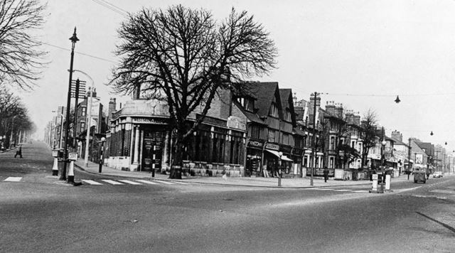 Mansfield Road at Junction with Hucknall Road, Nottingham, c 1950s
