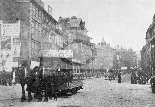 Long Row East, Nottingham, c 1892-5