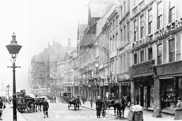 Long Row East, Nottingham, c 1900s