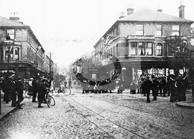 Radford Road, Gregory Boulevard Junction, Hyson Green, Nottingham, c 1910s?