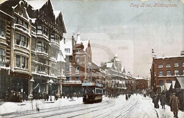 Long Row Central, Nottingham, 1908