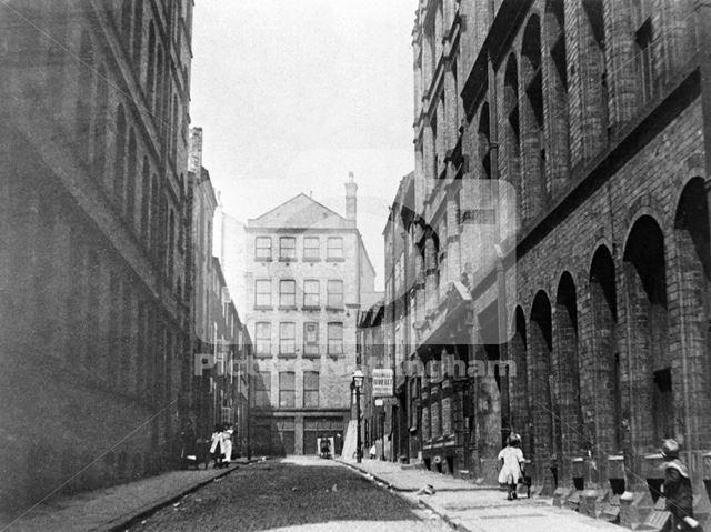 Riste's Place off Barker Gate, Lace Market, c 1910s