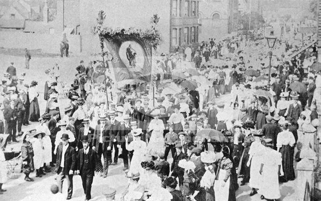 Baptist Sunday School procession, Bulwell, Nottingham, c 1904