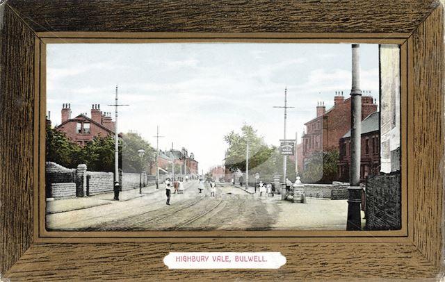 Highbury Road, Highbury Vale, Bulwell, 1910