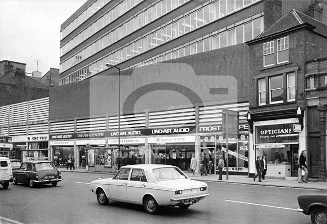 Upper Parliament Street, Nottingham, 1973