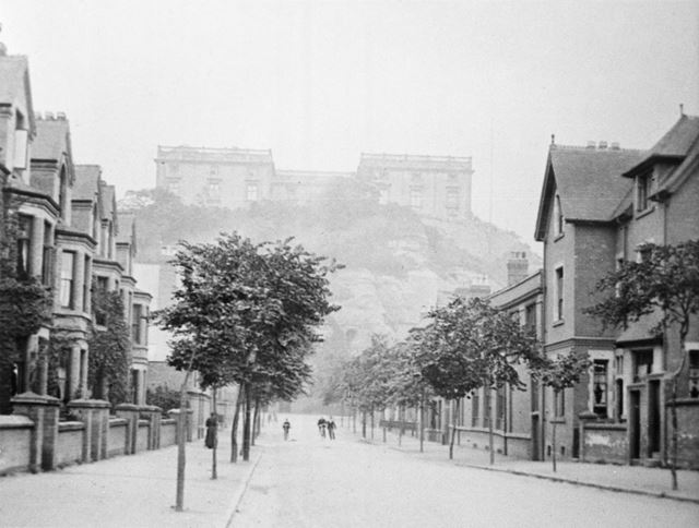Hope Drive and Nottingham Castle, c 1895