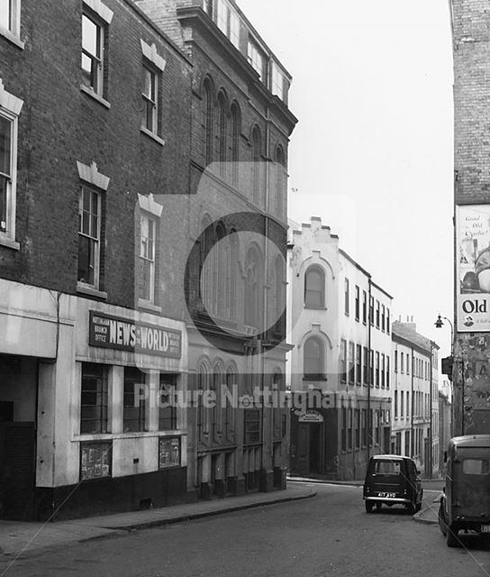 Pilcher Gate, Lace Market, Nottingham, 1960s