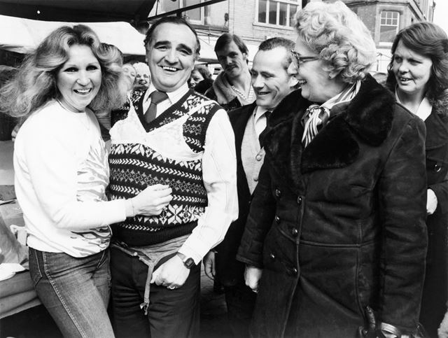 Billy Dainty and Hazel Wells, Market Place, Bulwell, 1980s