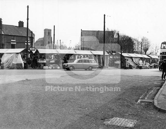 Bulwell Market, Market Place, Bulwell, 1973
