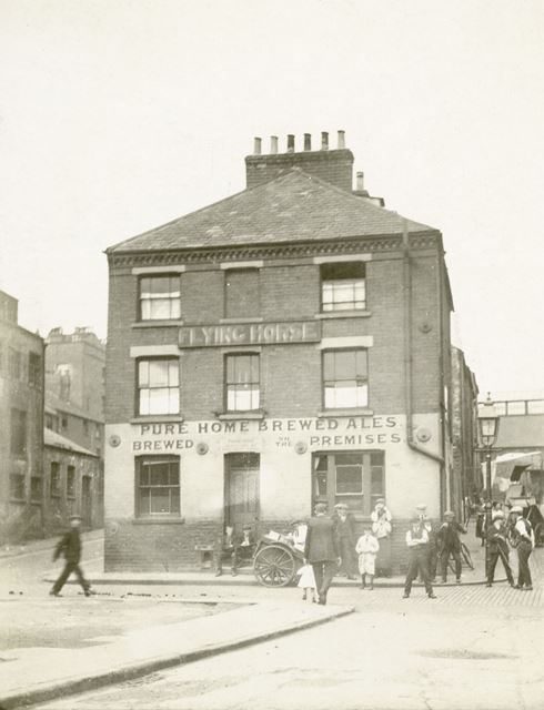 Flying Horse Inn, Colwick Street (now Brook Street), Sneinton, Nottingham, 1926
