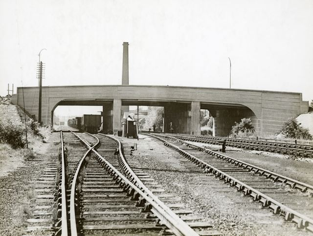 Moor Bridge construction, Bulwell, Nottingham, 1939